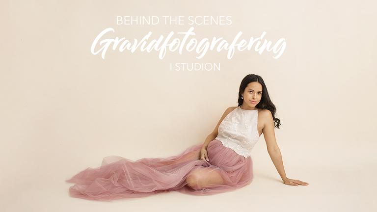 Fotograf Maria Ekblad gravidfotografering i studion goteborg