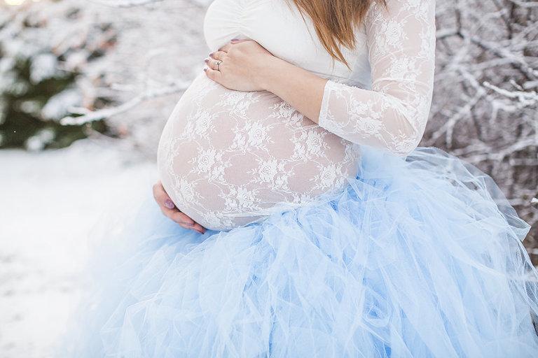 gravidfotografering blå tyllkjol gravidfotograf göteborg