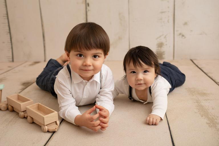 sexmånaders fotografering bebisfoto sitter session