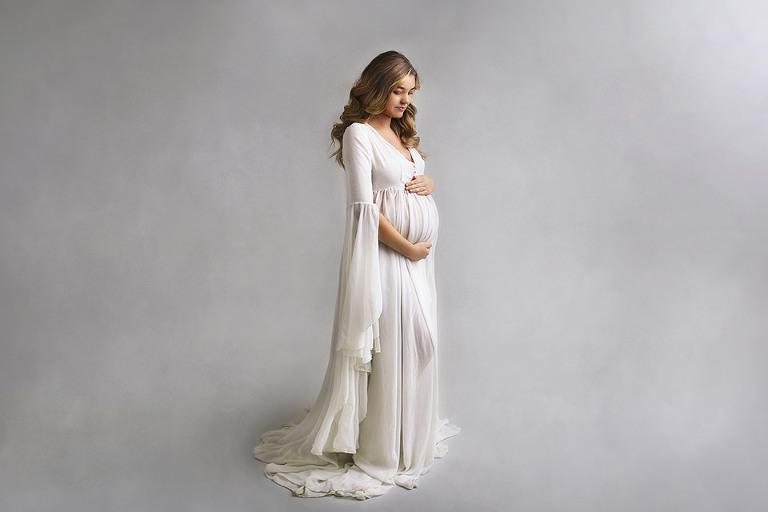 gravidfoto gravidklänningar studio fotograf göteborg maria ekblad