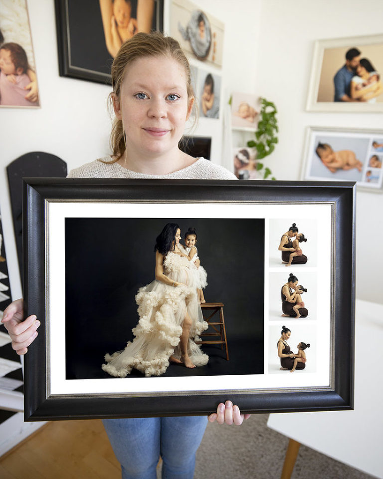 gravidfotografering Göteborg fotograf Maria Ekblad gravidbilder studio